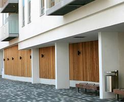 Woody timber external benches - Streatham