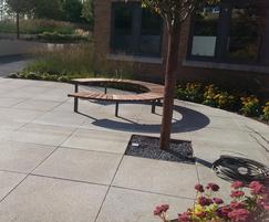 Circular Vera Sola bench, Kestrel House, Milton Keynes