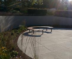 Vera Solo round outdoor bench