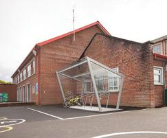 ESF's cycle shelters are popular with schools