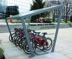 ESF's cycle shelters come in a variety of sizes