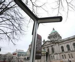 Solar-powered Street Charge units at Belfast City Hall