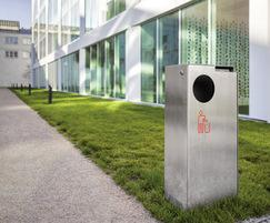 Galvanised steel litter bin