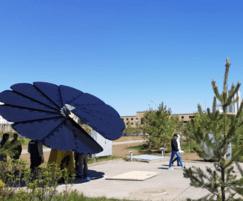 Environmental Street Furniture: SmartFlower solar charging units for Kazakhstan Expo