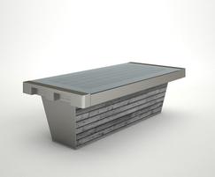 Stellar Smart Bench - grey wood