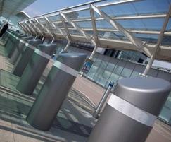 PAS68 bollards - Birmingham Airport