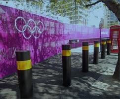 ESF30SM bolt-down PAS68 bollards - Olympics 2012