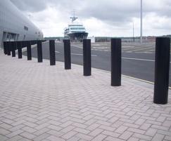 PAS68 bollards - Southampton Cruise Terminal