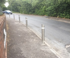 Stainless steel bollards protect pavements