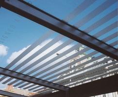 Aureo bus shelter canopy