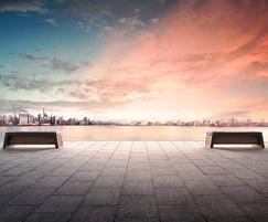 Stellar solar-powered bench
