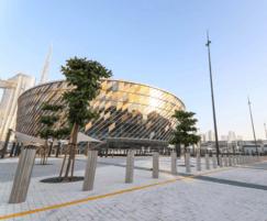 Security bollards for Dubai arena