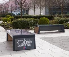 Stellar solar-powered benches
