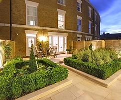 A compact, townhouse garden design