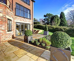 Landscaping, topiary and specimen trees for luxury home