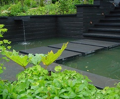 Slate sets off this water garden