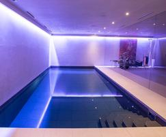 8mx4m x 1.35m deep Subterranean Pool and Party Area.