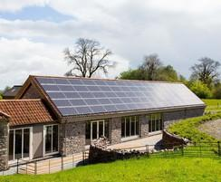 80 PV panels generates energy for the pool