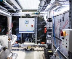 Futuristic plant room - fully lagged