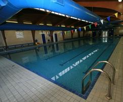 Refurbishment of 1970s pool complex.