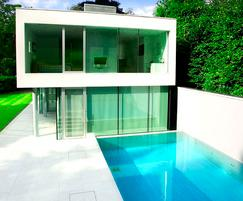 Indoor underground swimming pool london swimming pool for Infinity pool design uk