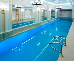 Luxury  pool with moving floor