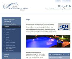 London Swimming Pool Company: Design Hub to help architects working on pool projects