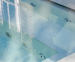 Hydrotherapy pool close-up