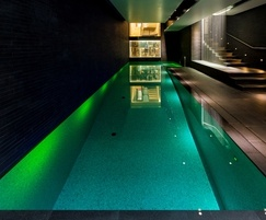 Award-winning luxury pool with colour-changing lights