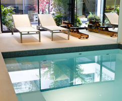 Underground pool for private residence in Chelsea