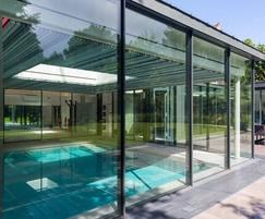 Luxury indoor pool - glazed pool hall