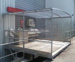 Bespoke free-standing shelter for Royal Canin