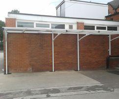 Bespoke waiting shelter Herons Cross Primary School