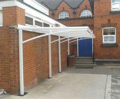 Parent shelter Herons Cross Primary School