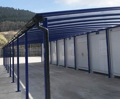 Large canopy with a guttering system