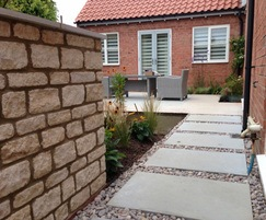 Limestone paving for rear garden