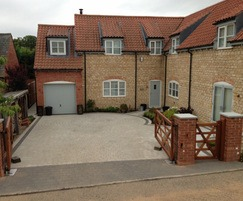Front driveway featuring Argent paving by Marshalls