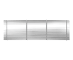 Type EF - grille core with fixed horizontal blades