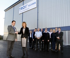 TROX UK: Construction of TROX UK's new warehouse is completed
