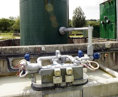 Dosing pumps, lime circulation and mixing system