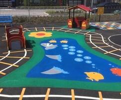 Vibrant pond-themed play area