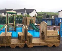 Play train and carriages at Knocknagoney Nursery School
