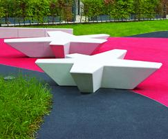 Escofet Flor cast stone benches