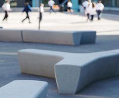Escofet Twig cast stone Benches in playground