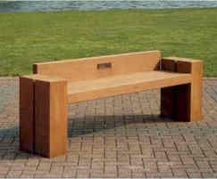 Jet Hardwood Timber And Stainless Steel Bench Woodscape