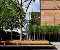 Woodscape bespoke hardwood central seating planter
