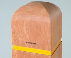 Square bollard - dome 4 profile - with reflective band