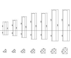 Square bollards - specifications