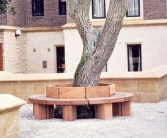 Octagonal hardwood tree seat