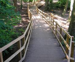 Hardwood timber raised boardwalk
